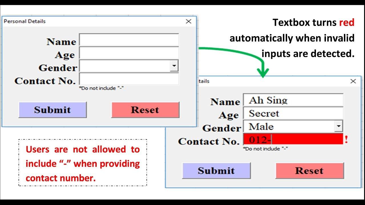 Excel VBA - Auto change Textbox color