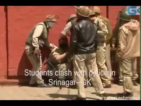 Stone Pelting in S.P College Srinagar