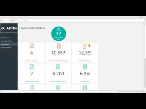 Excel Invoice Tracker Template YouTube - Invoice tracking template