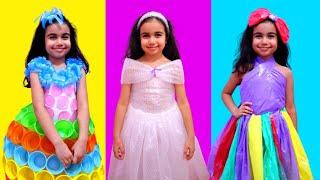 Şimal makes a new party dress for Princess Party and a fairy helps her! - Cool DIY ideas