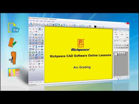 Richpeace Cad Software Online Lessons Arc Grading V10 Youtube