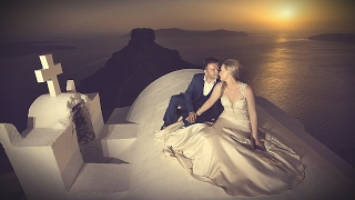 cinematography wedding in santorini