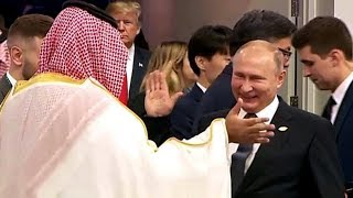 #Viral #Handshake | Putin and Saudi Crown Prince Salman trolling Trump at G20 Summit