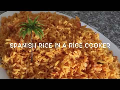 BEST SPANISH RICE IN A RICE COOKER