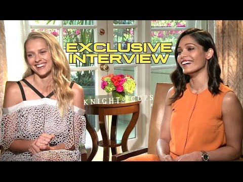 Teresa Palmer and Freida Pinto Interview - KNIGHT OF CUPS (2016) JoBlo.com Exclusive HD