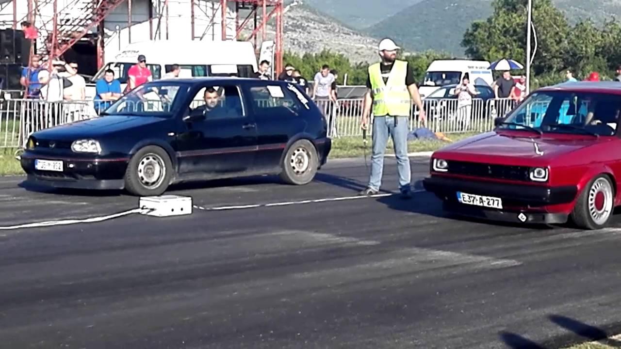 Street Race Mostar 21052016 Golf 3 Gti Kula Vs Golf 2 Dizel Youtube