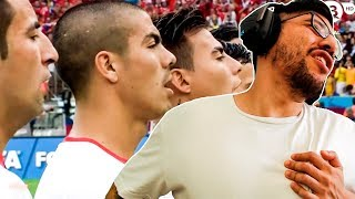CHILE 2 - 0 ESPAÑA   Mundial 2014   El HIMNO CHILENO es BRUTAL