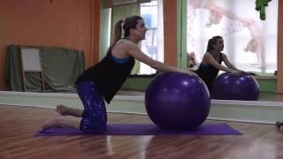 Занятия для беременных. Тренировка для будущих мам. Фитбол, силовые упражнения, расстяжка