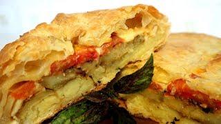 Итальянский пирог с баклажанами и копченым сыром