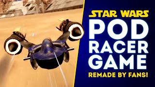 Star Wars Pod Racer Game REMADE IN UNREAL ENGINE 4 by Star Wars Fan! (Pod Racing Game!)