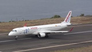 Madeira Airport Air Europa Embraer 195 takeoff / despegue