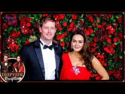 Preity Zinta Arrives With Husband At Deepika Ranveer Mumbai Reception Party 2018