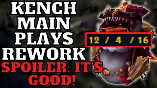TAHM KENCH REWORK FULL LATE GAME GAMEPLAY - League of Legends Tahm Kench vs Renekton Top