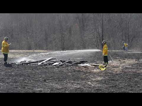 Firefighters control five-acre brush fire on Kuhl Road in Greene Township