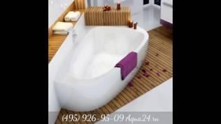 Обзор угловых асимметричных ванн от Aqua24.ru