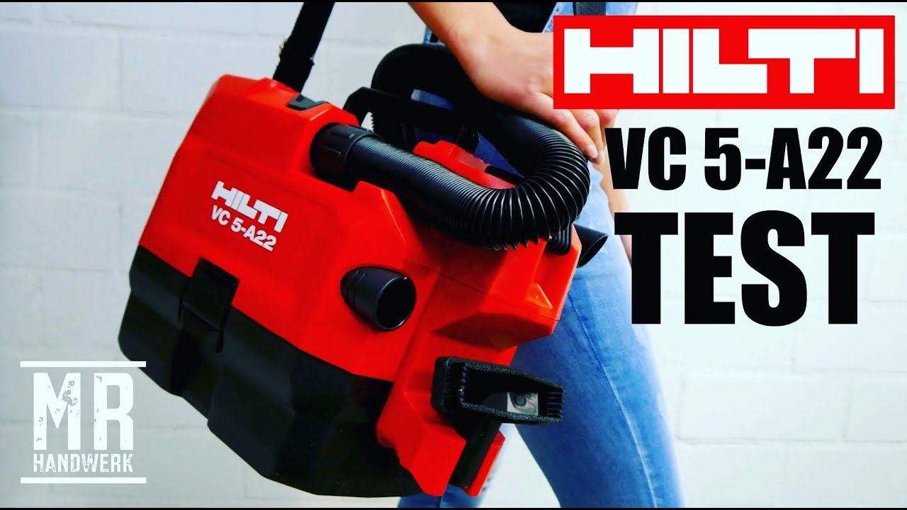der neue akku staubsauger hilti vc 5 a22 was kann er wirklich extrem test youtube. Black Bedroom Furniture Sets. Home Design Ideas