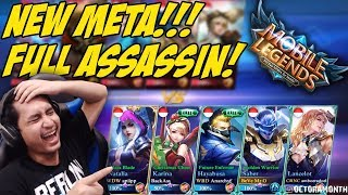 SQUAD YOUTUBER FULL ASSASSIN PALING RUSUH DAH WKWKWK - Mobile Legends Indonesia