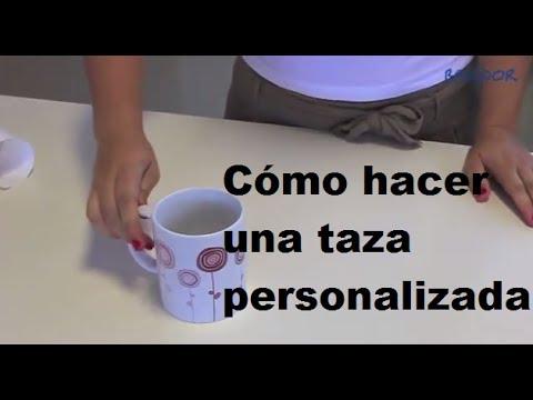 C mo personalizar una taza mediante sublimaci n youtube - Como decorar una taza ...