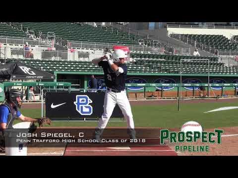 Josh Spiegel prospect video, OF, Penn Trafford High School Class of 2018