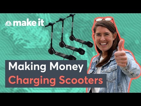 Side-hustlers make money charging and dropping off Bird and Lime scooters