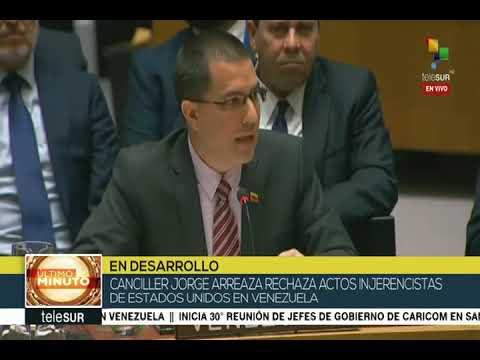 Espectacular discurso de Jorge Arreaza en el Consejo de Seguridad de la ONU, 26/02/19