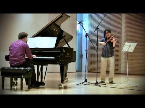 Franck: Sonata in A major 2nd movement; Noé Inui & Vassilis Varvaresos