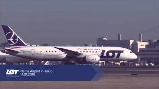 First flight to Tokyo operated by LOT Polish Airlines