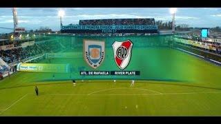 Fútbol en vivo. Atl. Rafaela - River. Fecha 17 del torneo de Primera División. FPT.
