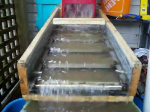 how to build a sluice box