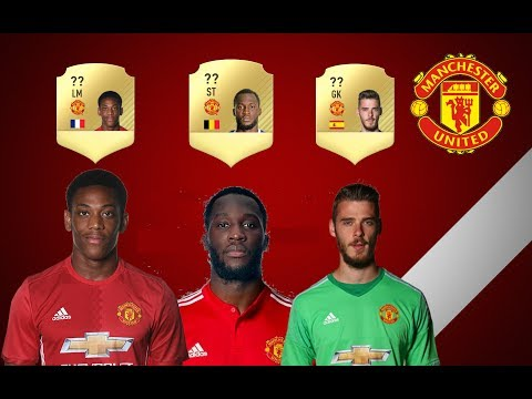 FIFA 18 RATING PREDICTIONS #02 - MANCHESTER UNITED ft  LUKAKU, MARTIAL E DE GEA