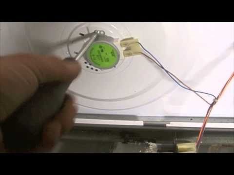 Microwave Motor How To Remove And Test Repair Change Replace A Turntable