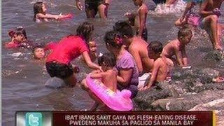 24 Oras: Iba't ibang sakit gaya ng flesh-eating disease, pwedeng makuha sa pagligo sa Manila Bay