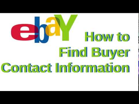eBay: How to Find Buyer Contact Information [Ver. 1.0]