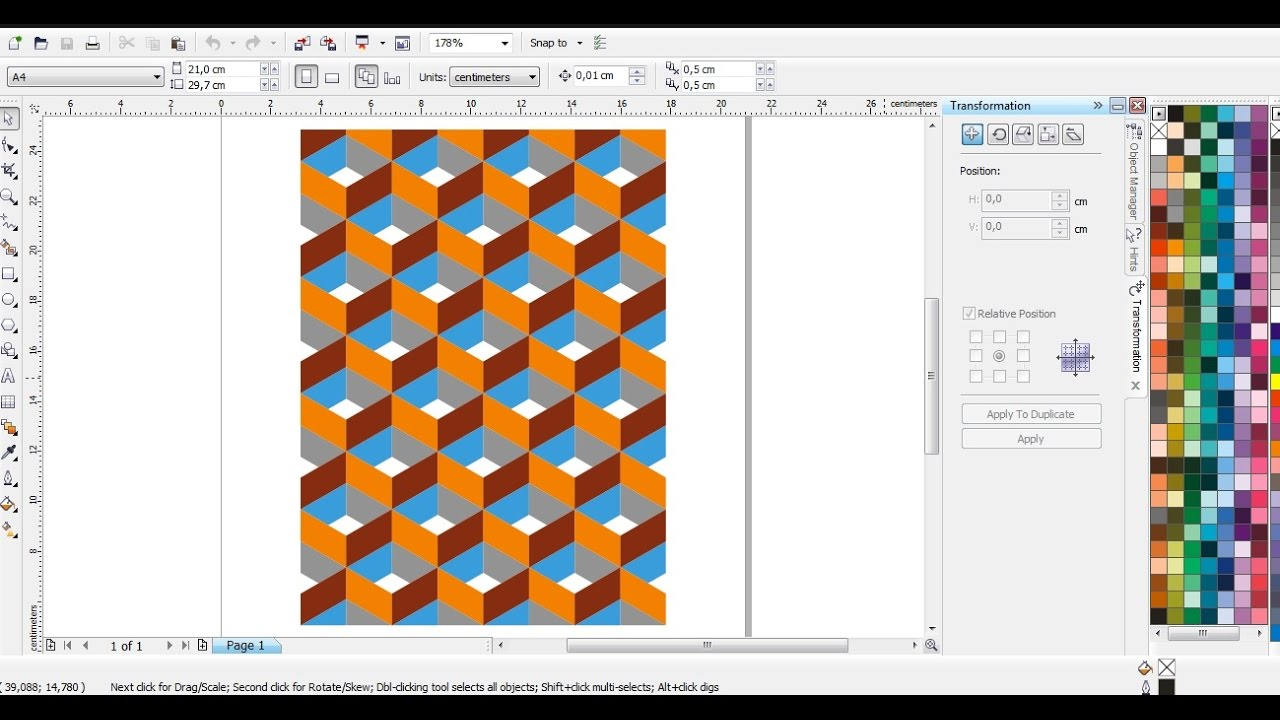 Desain Pattern dengan CorelDRAW  Belajar CorelDRAW