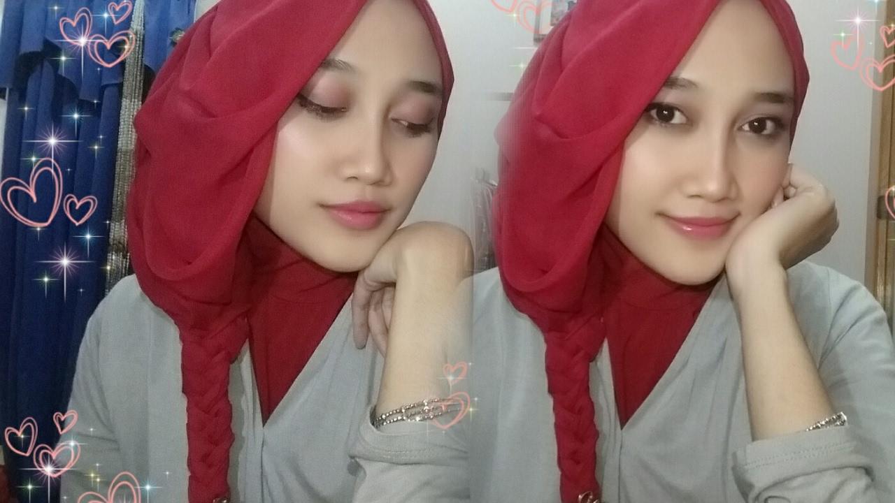Tutorial Hijab Segiempat Layer Kepang Untuk Pesta Selvyana