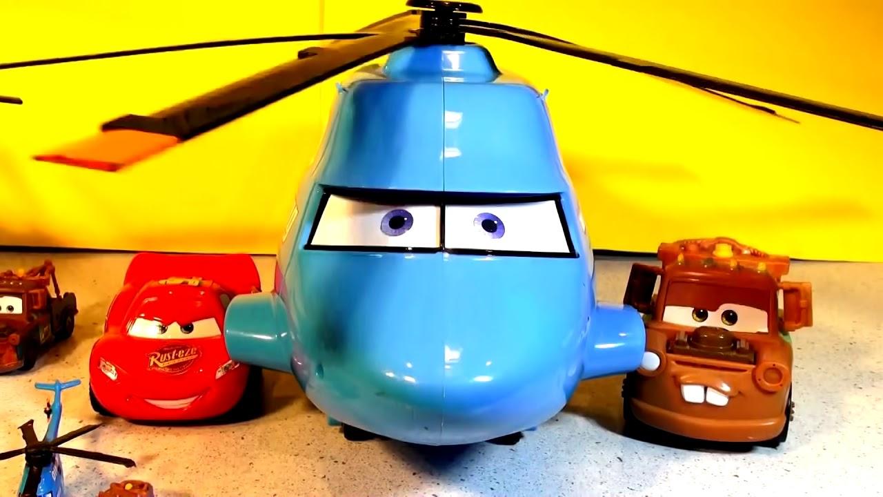 pixar cars spy mater with finn mcmissile and mack hauler