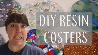 MY FIRST TIME TRYING TO MAKE RESIN COASTERS | DIY | Real Girl Guide