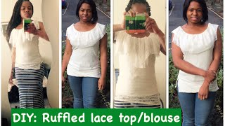 DIY: HOW TO SEW A RUFFLE NECKLINE TOP