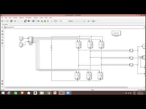 Convertidor de seis interruptores mediante SPWM