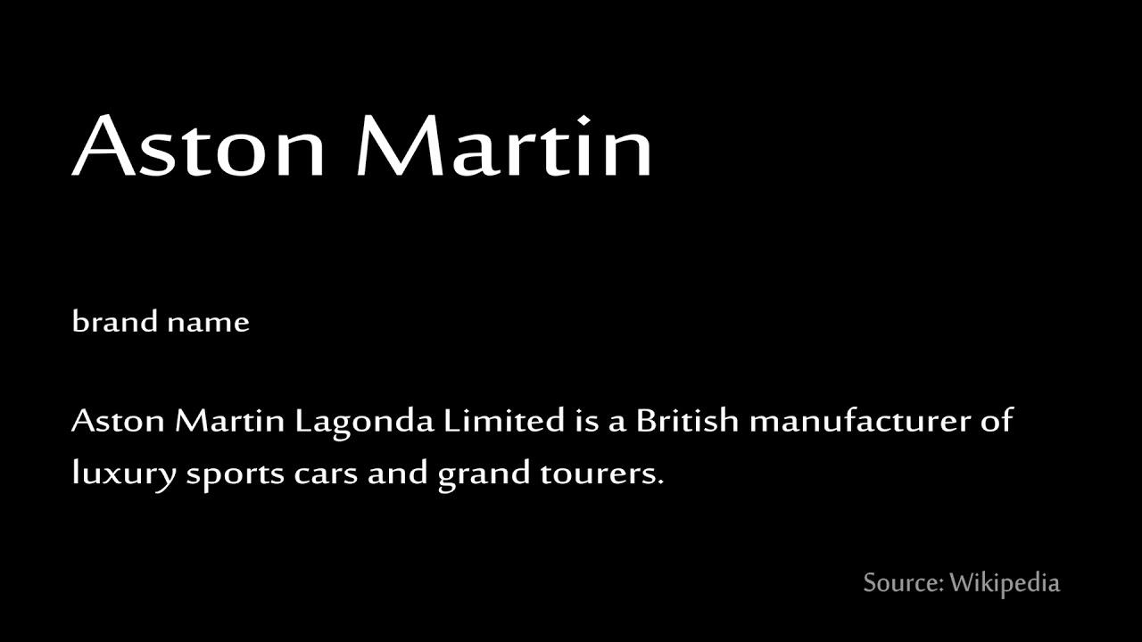 How To Pronounce Aston Martin Youtube