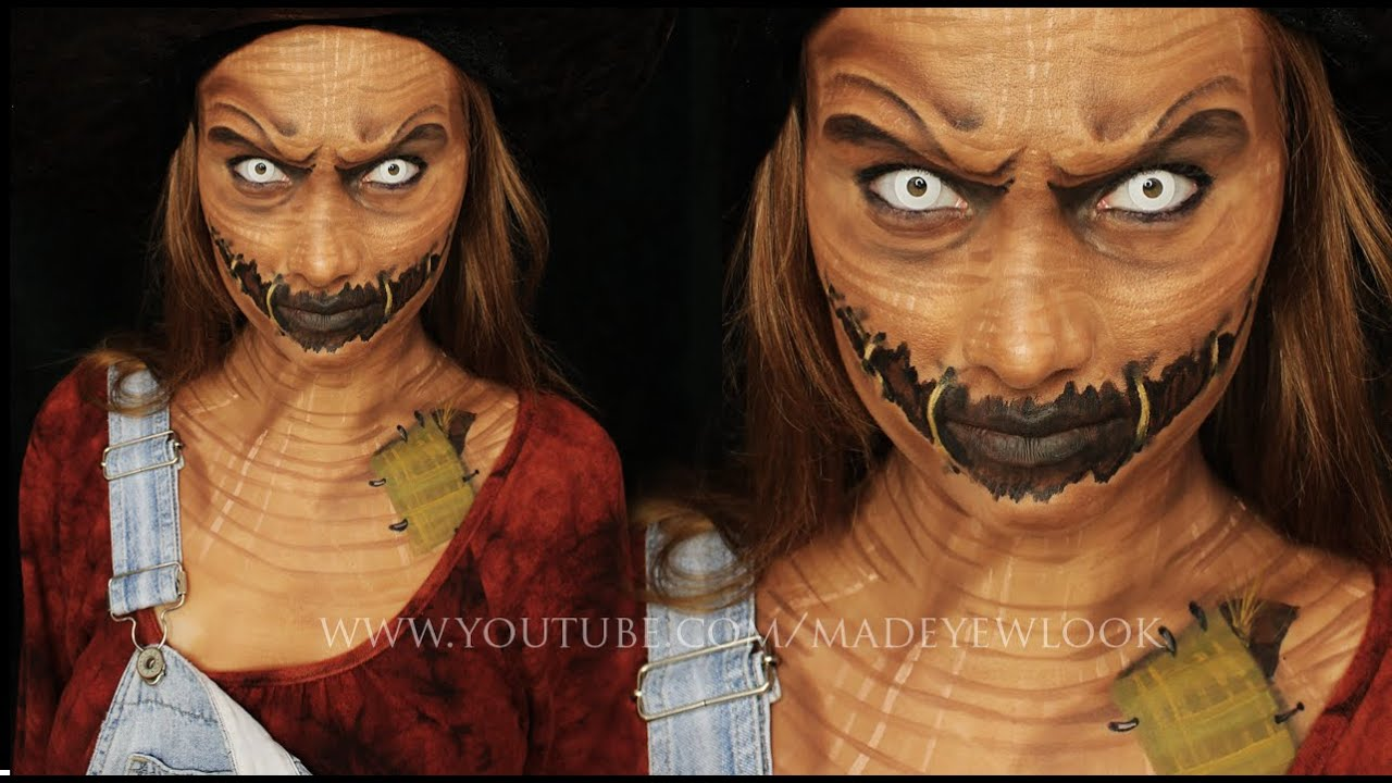 SCAREcrow Makeup Tutorial - YouTube
