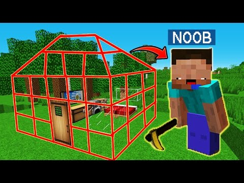 NOOB VS CASA INVISIBLE 😂 MINECRAFT TROLL + ROLEPLAY | EL NOOB #1