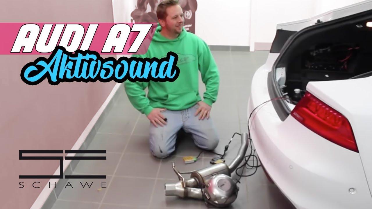 audi a7 aktiv sound auspuffanlage mit soundmodul von. Black Bedroom Furniture Sets. Home Design Ideas