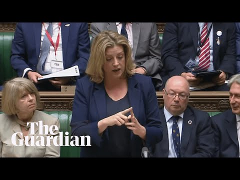 Minister Penny Mordaunt uses sign language in Commons first