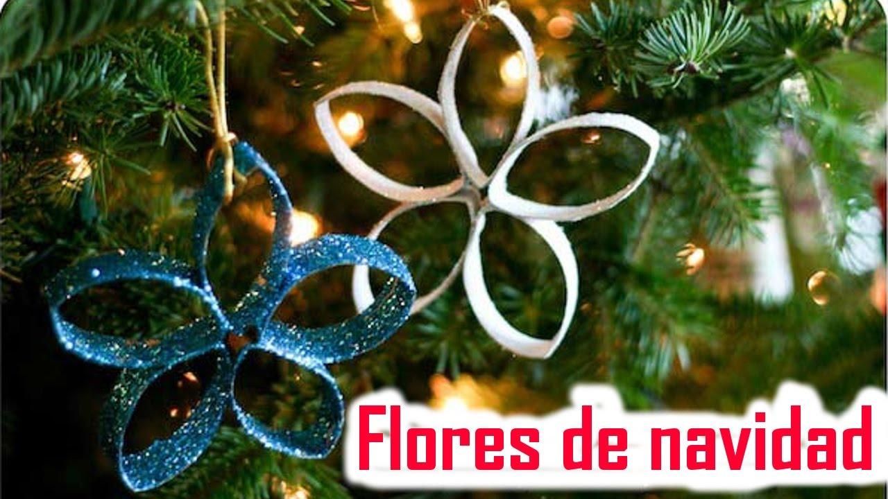 Flores De Navidad Con Rollos De Papel Higienico Manualidades De - Manualidades-con-rollos-de-papel-higienico-para-navidad