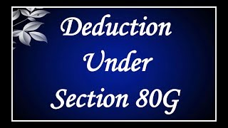 Deduction 2nd class....very imp