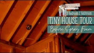 Tiny4Life. House Tour Before Spray Foam of a 3 Bedroom 2 Bathroom Tiny House