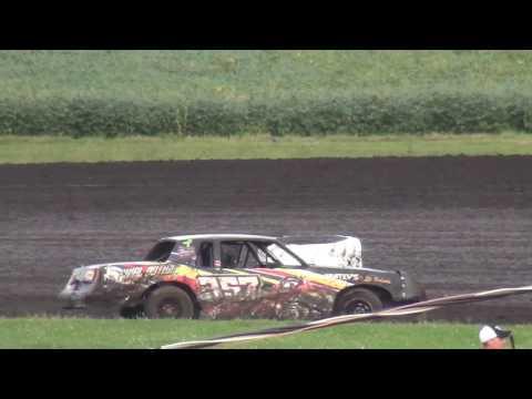 IMCA Hobby Stock feature Benton County Speedway 8/28/16