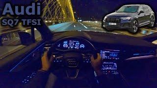 2021 Audi SQ7 TFSI   night POV test drive   #DrivingCars