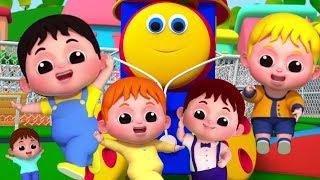 Боб Поезд | Пять маленьких детей | популярная детская песня | стихи для детей | Five Little Babies